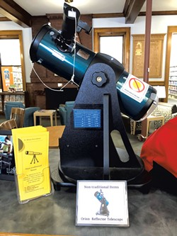 A telescope patrons can borrow - COURTESY OF ST. ALBANS FREE LIBRARY