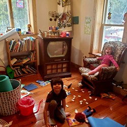 Leanne's children playing at home