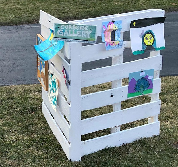 Curbside art gallery in Shelburne - COURTESY IMAGE
