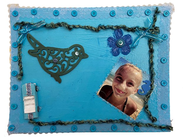 """Shades of Blue"" by Sophie, 11 - COURTESY OF TRISH VAN VLIET"