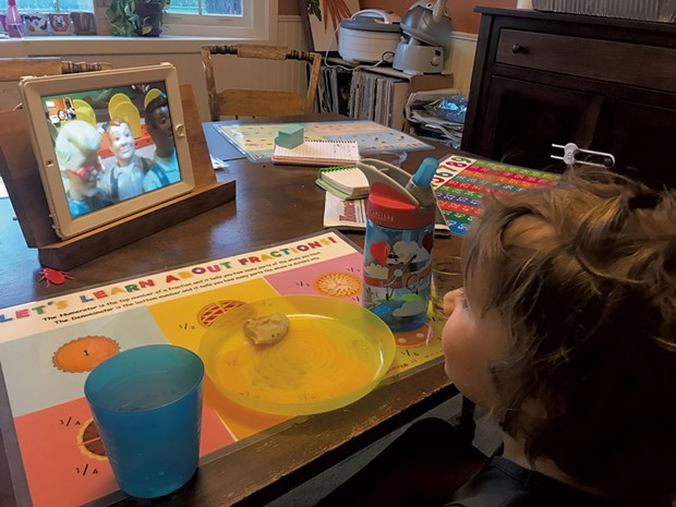 Coraline watches Mimi put on a show with action figures - COURTESY OF KEEGAN ALBAUGH