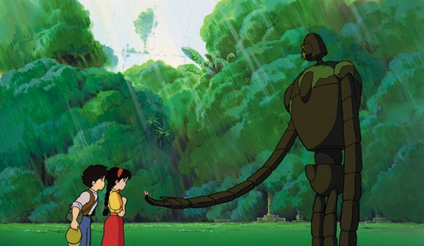 Pazu and Sheeta meet  a robot in 'Castle in the Sky' - © 1986 STUDIO GHIBLI