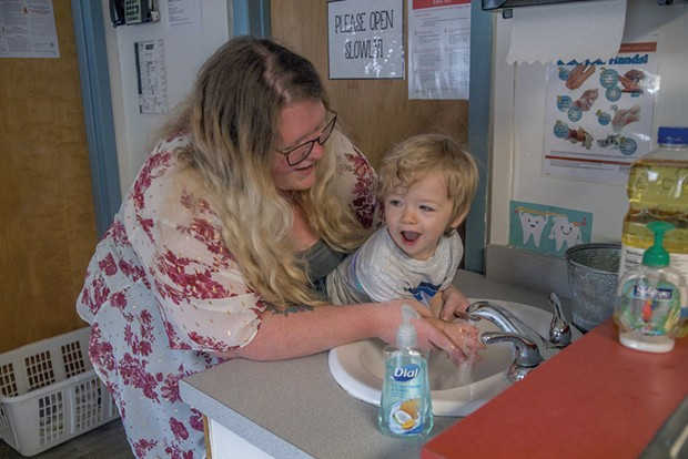 Washing hands in Milton - COURTESY OF CHAMPLAIN VALLEY HEAD START