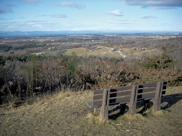 The view from Sucker Brook's Five Tree Hill overlook - COURTESY OF THE TOWN OF WILLISTON