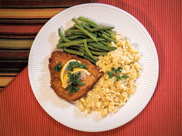 Pork Schnitzel and Spaetzle - ANDY BRUMBAUGH