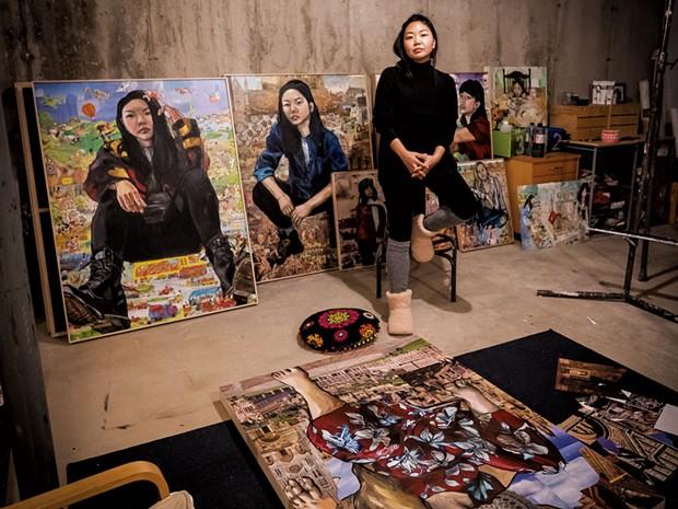 Misoo in her basement studio in November - CAT CUTILLO