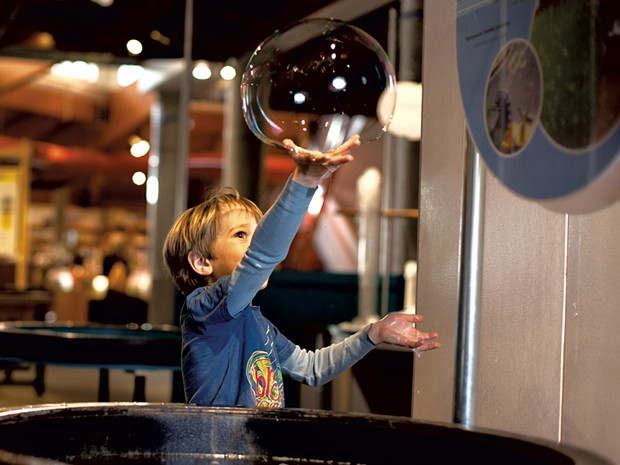 Bubbles at the Montshire Museum of Science - COURTESY OF MONTSHIRE MUSEUM OF SCIENCE