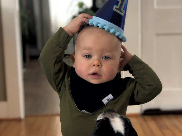 Emmet's first birthday - COURTESY OF HEATHER WOOD