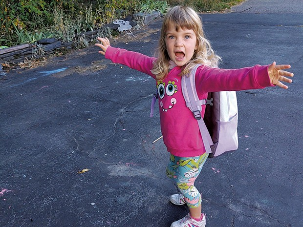 Millie's first day of preschool - COURTESY OF SHANNON PLANCK