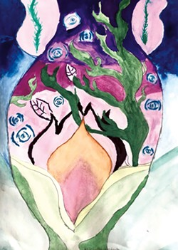 """""""Deep Sea Lilac"""" by Michelle, grade 6 - COURTESY OF EMILY JACOBS"""