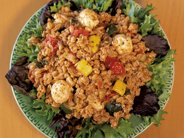 Roasted Vegetable Farro Salad - ANDY BRUMBAUGH
