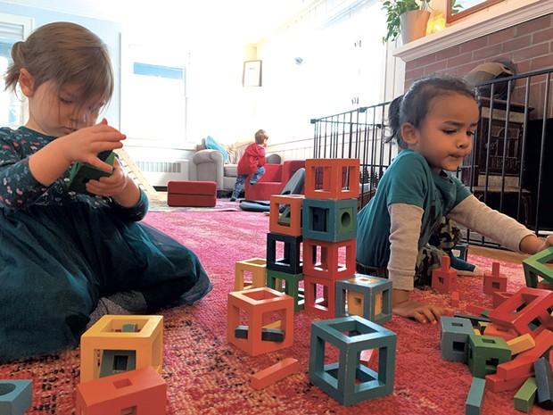 Children playing at Aubrey's House - COURTESY OF AUBREY BOYLES