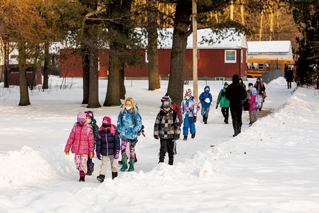 Chamberlin students on their way to school - CAT CUTILLO