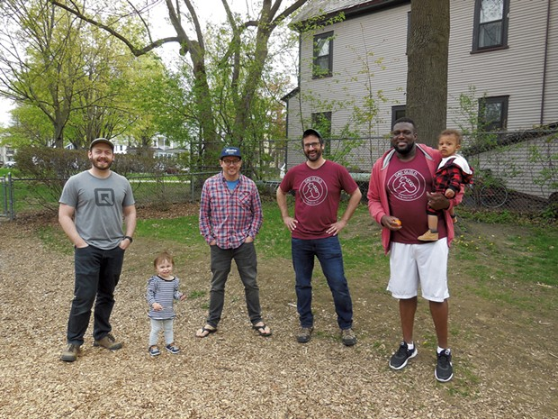 Keegan Albaugh (second from right) with other Dad Guild members - COURTESY OF KEEGAN ALBAUGH