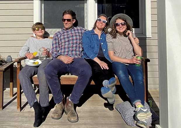 Alison and her family this spring - ALISON NOVAK