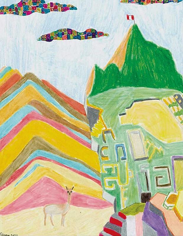 """""""Peruvian Night"""" by Ashlyn P., age 14"""