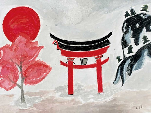 """Japan"""" by Aung B., age 14"""