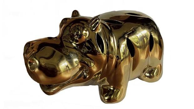Gold hippopotamus figurine - MARIA MUNROE
