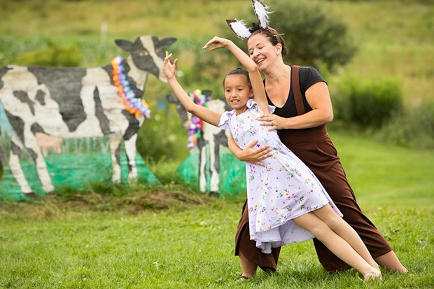 Violet and mom Maria performing in the Farm to Ballet Project - CAT CUTILLO