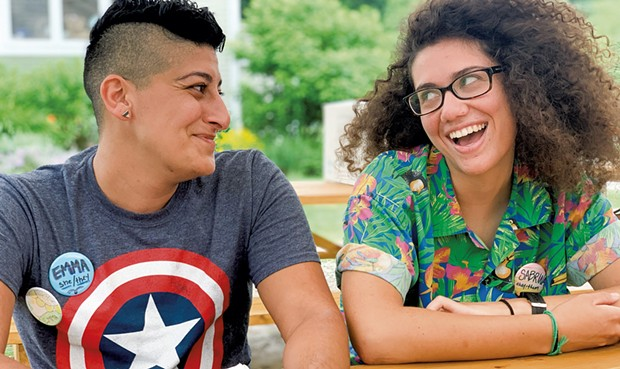 Emma Makdessi with Sabrina Melendez, Camp Outright codirector - COURTESY OF DANA KAPLAN