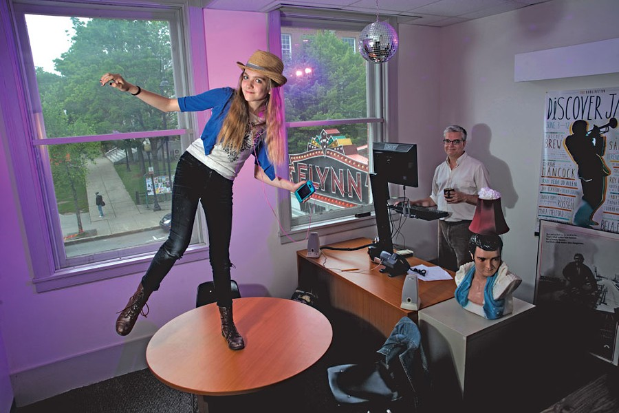 MacQueen in his office with daughter Rose