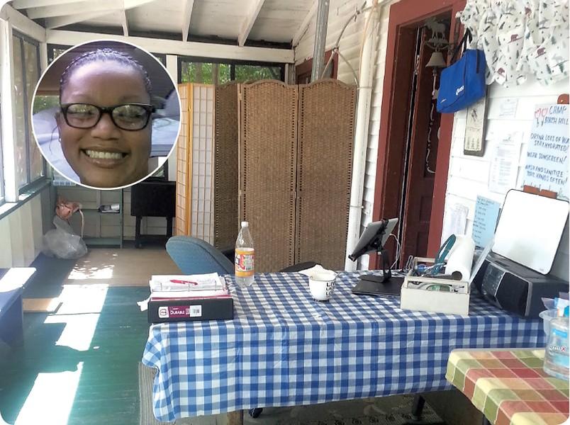 Roxana De La Rosa and the nurse's office at Camp Birch Hill