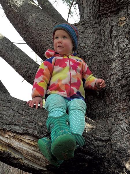Joni Houghton takes a break from hiking - MEGAN JAMES