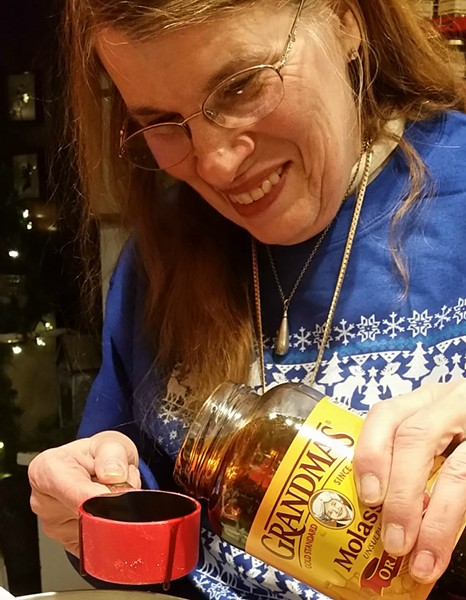 Grandma with Grandma's Molasses