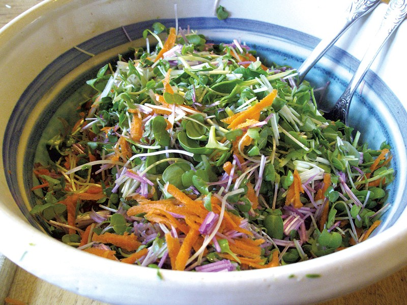 Salad made with fresh greens - COURTESY OF PETER BURKE