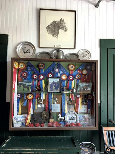 Ribbons inside the barn - SARAH TUFF DUNN