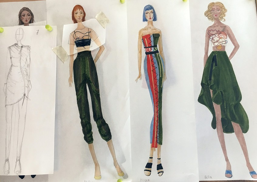 Sketches from Crane's STRUT 2017 collection - COURTESY OF ZOE CRANE