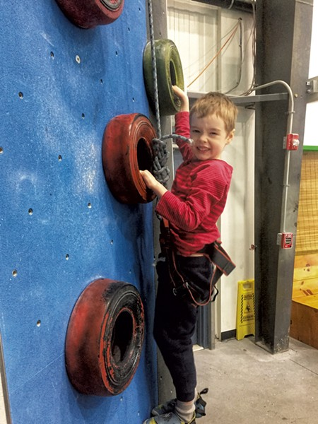 Luke tackles the tire wall - LIZ CADY