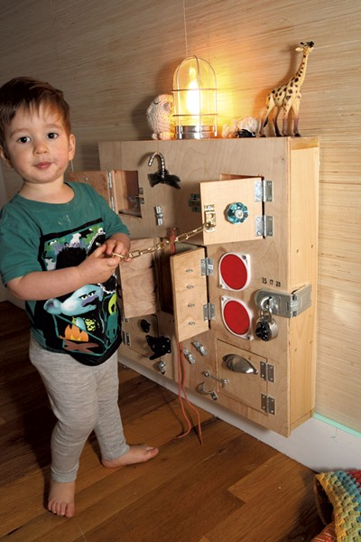 Mo's plywood sensory box - MATTHEW THORSEN