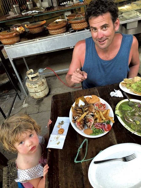 Chef Rogan Lechthaler with daughter Lulu