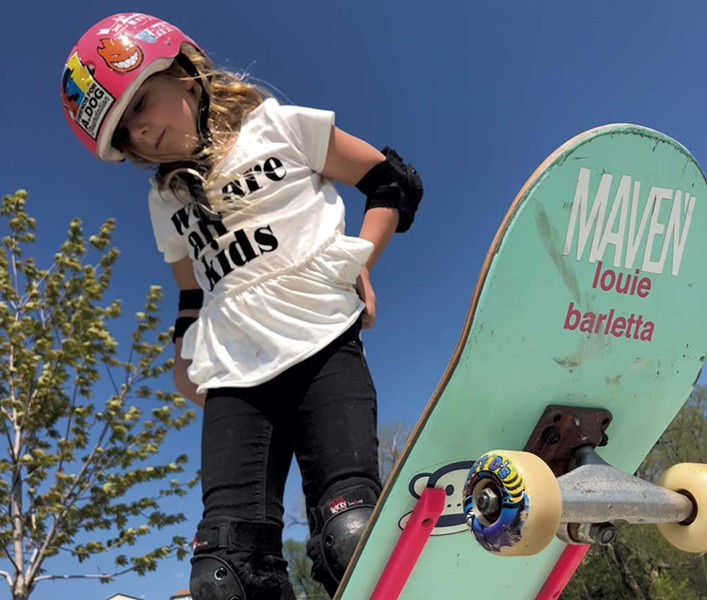 Eva Foster at A_Dog Skatepark, Burlington - COURTESY OF TRINA FOSTER