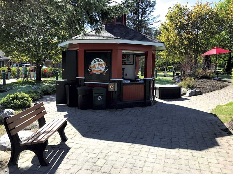 The golf park's kiosk - COURTESY OF BENJAMIN ROESCH