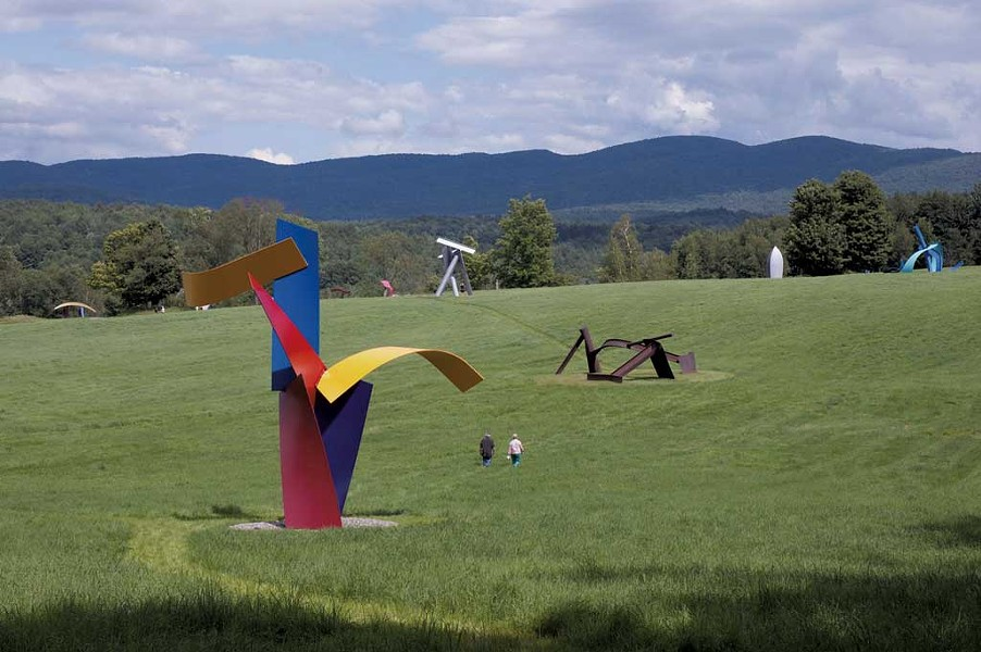 """Jitterbug"" (foreground) by David Stromeyer at Cold Hollow Sculpture Park in Enosburg - COURTESY IMAGE"