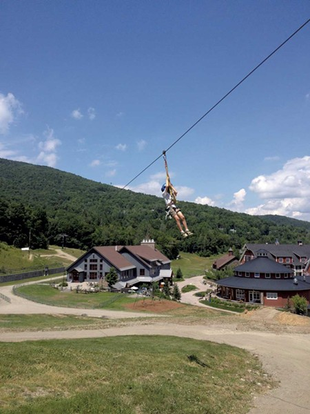 The zip line at Sugarbush Resort - JANET ESSMAN FRANZ