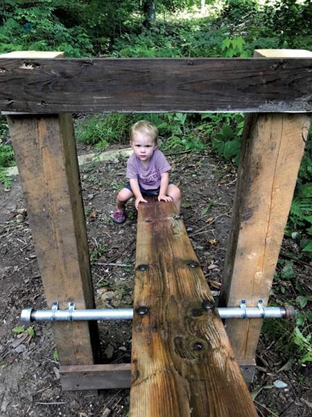 A salvaged seesaw - BRETT STANCIU