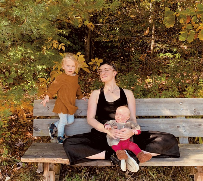Rebecca Weisman with her daughters