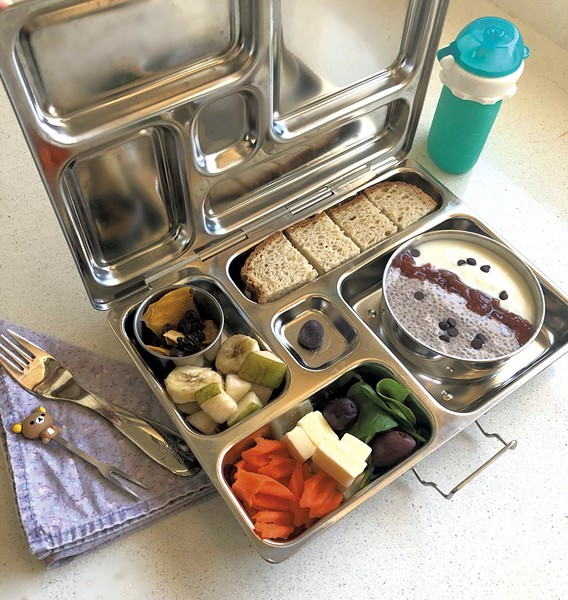 A low-waste lunch packed in a stainless steel PlanetBox - MEREDITH BAY-TYACK