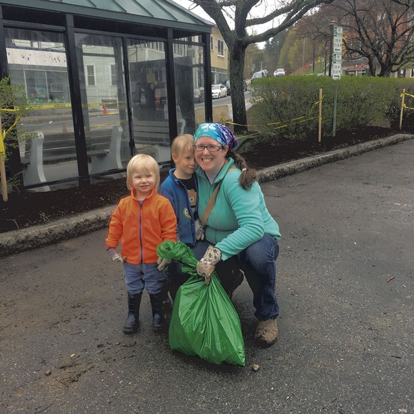 Kids greening up in Springfield last year - COURTESY OF JEB WALLACE-BRODEUR
