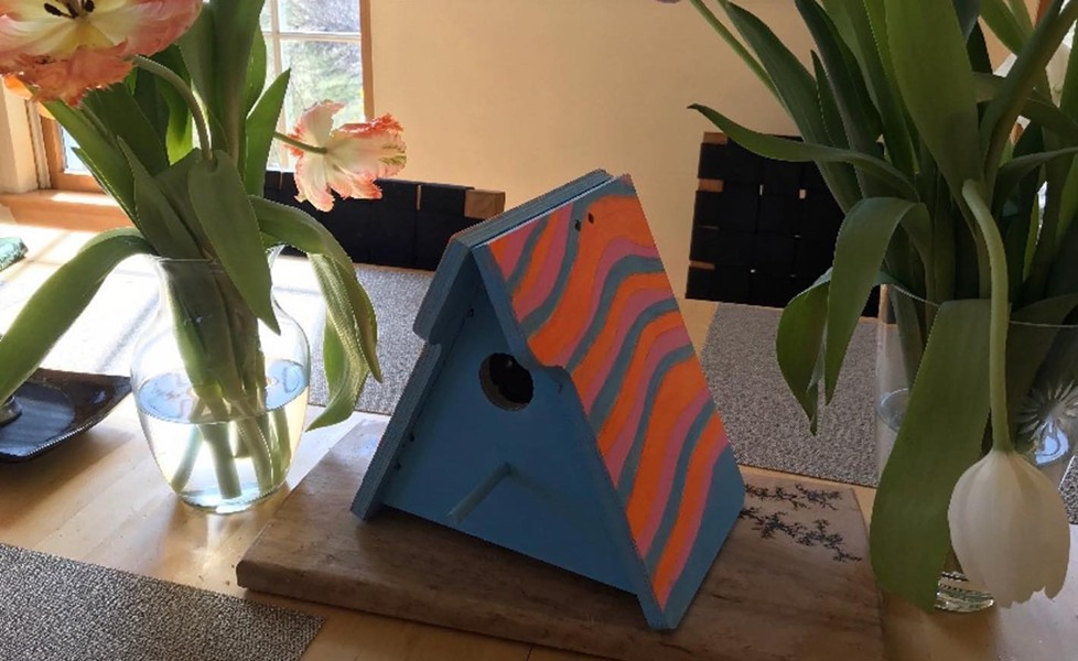 A finished birdhouse - COURTESY OF PETER POMERANTZ