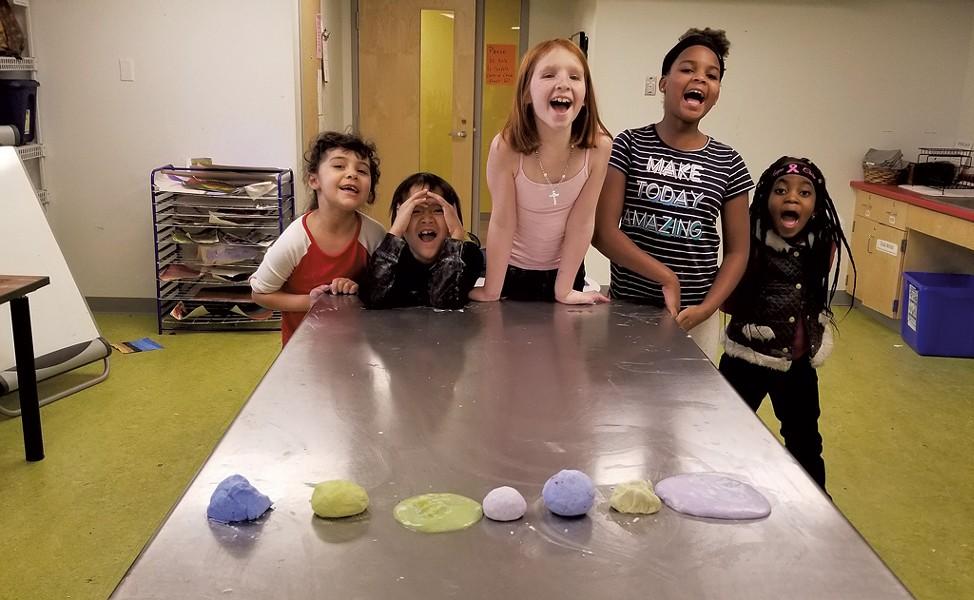 Students make vegan slime