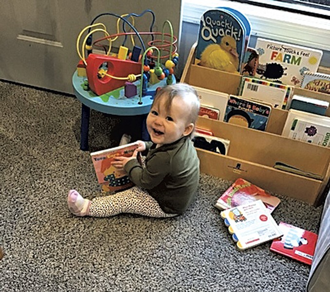 Penelope at her childcare center before the closure - COURTESY OF KEEGAN ALBAUGH