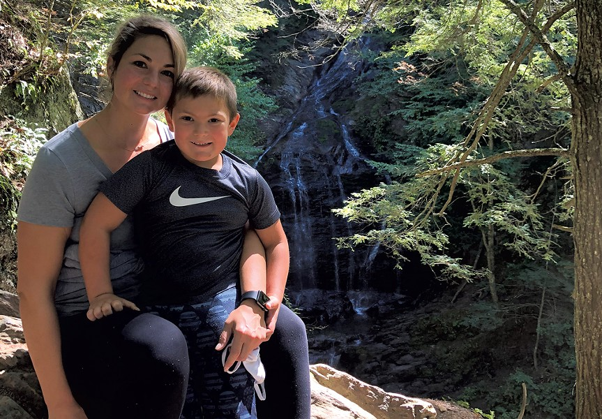 Monica and her son - COURTESY OF MONICA CHAPMAN