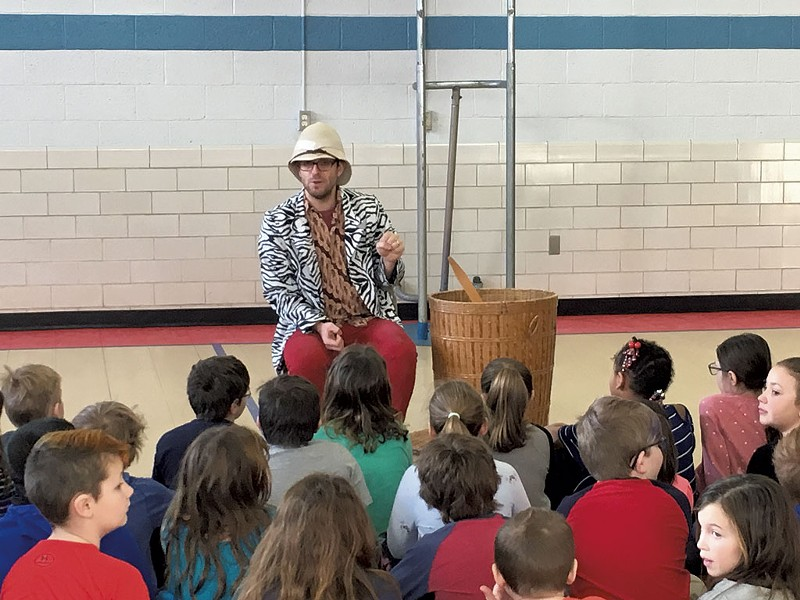 """Toby Aronson, the """"zookeeper"""" of the Vermont Symphony Orchestra's Musical Petting Zoo - COURTESY OF VERMONT SYMPHONY ORCHESTRA"""