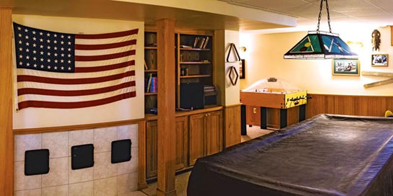 Basement Game Room David and Lisa Howe's Basement Game Room Timothy Santimore