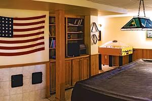 David and Lisa Howe's Basement Game Room