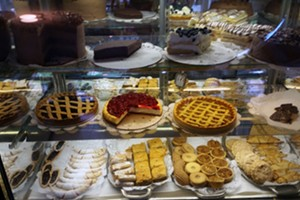 Dessert case at Rainbow Sweets